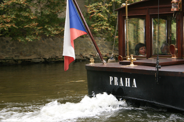 boat trip along the vltava