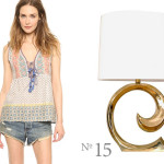 house of harlow shirt available at shopbop and pierre cardin brass lamp