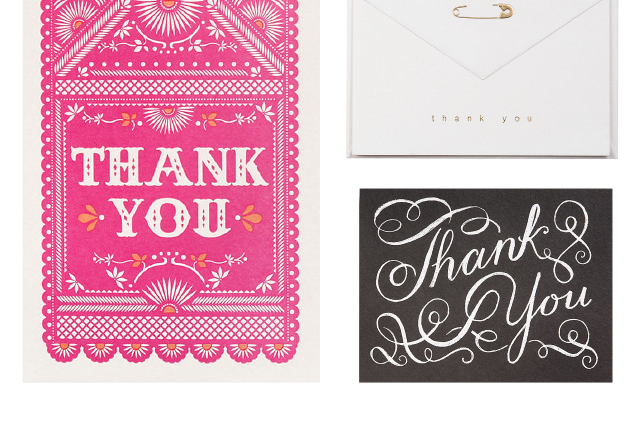 pretty thank you cards from paper source