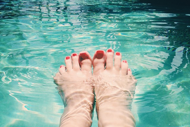 feet in a pool
