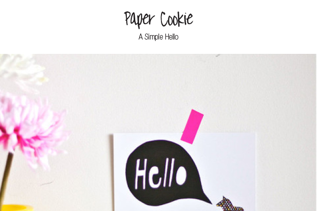 paper cookie hello card
