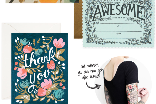 rifle paper co thank you cards