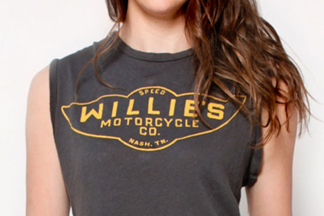 willies motorcycle company t-shirt