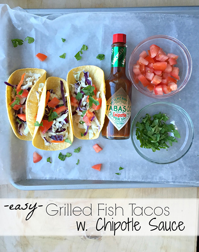 Fish Tacos with Chipotle Sauce