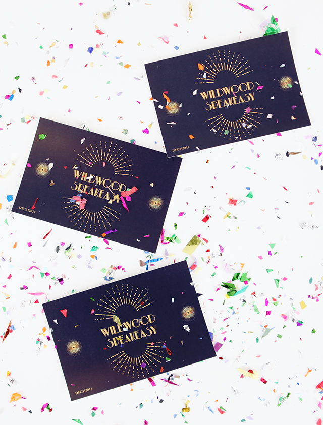 Free Speakeasy New Year's Party Invitations