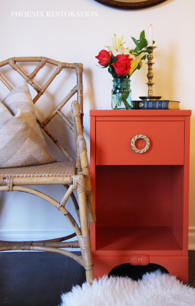 Before and After Nightstand Makeover