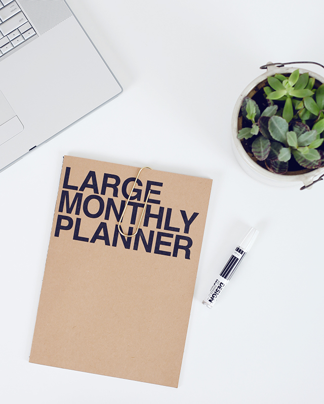 The Larger monthly Planner by Poketo