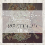Enter to win a $300 Pottery Barn eGift Card!