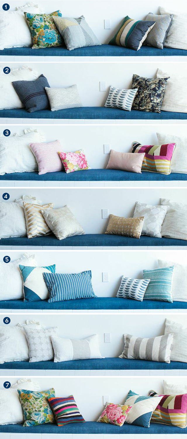 Emily Henderson mixes pillows 7 different ways