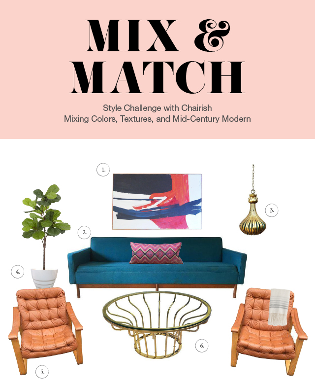 Mix & Match Mid Century Modern Style Challenge with Chairish
