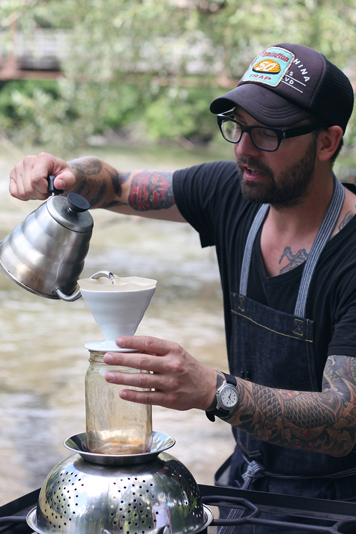 Lodge Coffee Roasters Explorer Coffee Roasting Adventure. Jayson Moyer gets up close and personal talking about his coffee roasting process and where his passion stems from. Here he brews the perfect pourover. Use homemade pourover to brew coffee grounds.