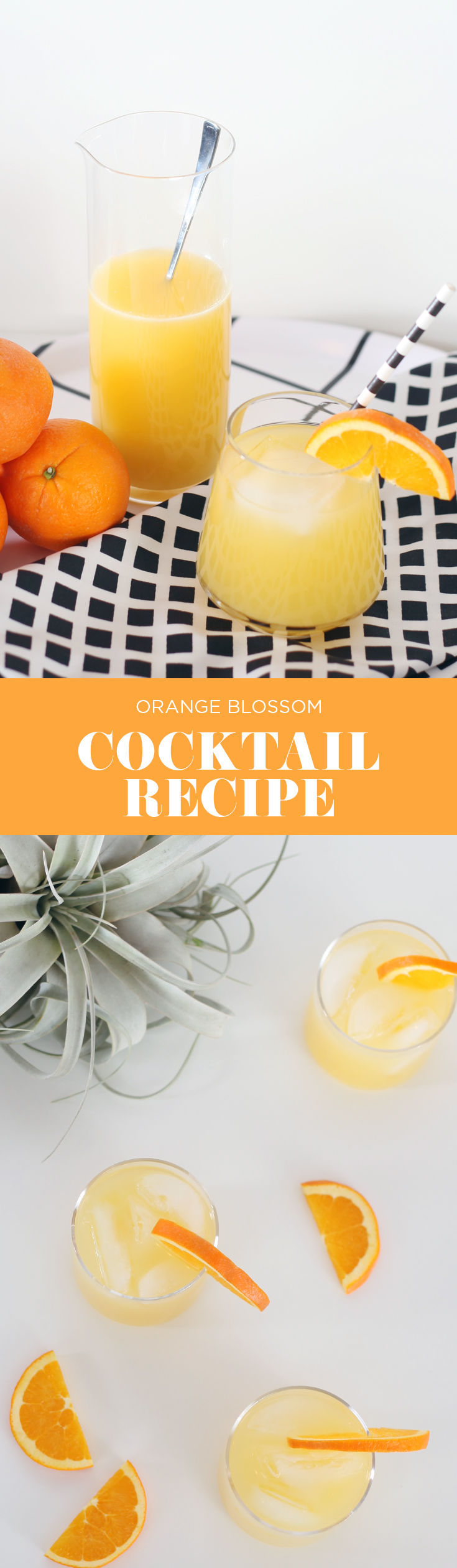 A great drink for fall or summer. This orange blossom cocktail recipe contains orange vodka, lillet blanc and sparkling sake. A great drink for a party, signature drink or just gathering with friends on the patio. Click through for the complete recipe on House Of Hipsters Blog!