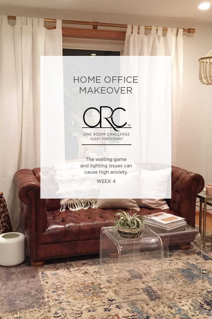 The One Room Challenge Home Office interior design makeover is in Week 4, and I've been styling vignettes.