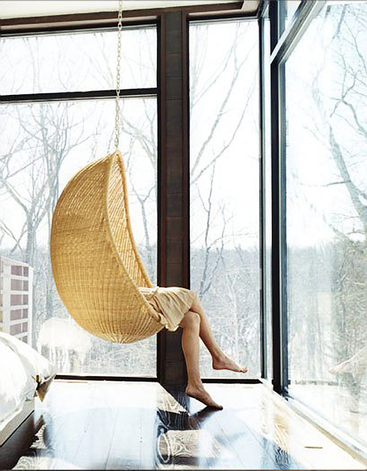 Superieur Hanging Chairs U2014 Vintage Rattan Hanging Chairs Are Making A Comeback. A  Seating Nook That