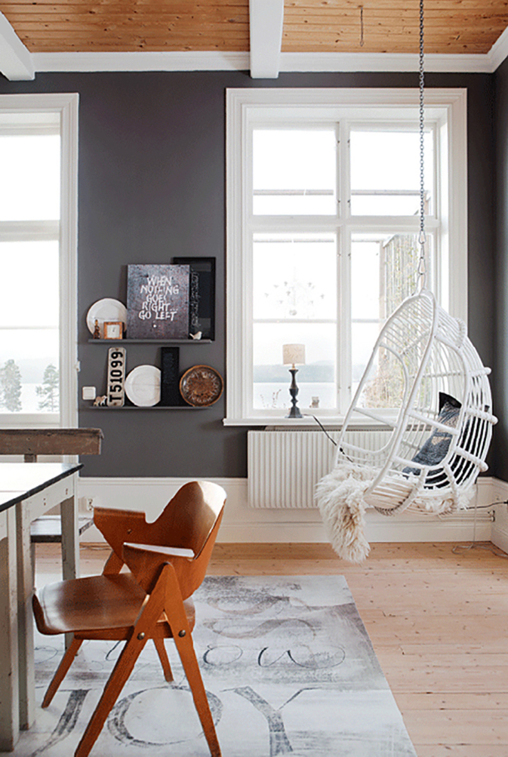 Hanging Chairs U2014 Vintage Rattan Hanging Chairs Are Making A Comeback. A  Seating Nook That