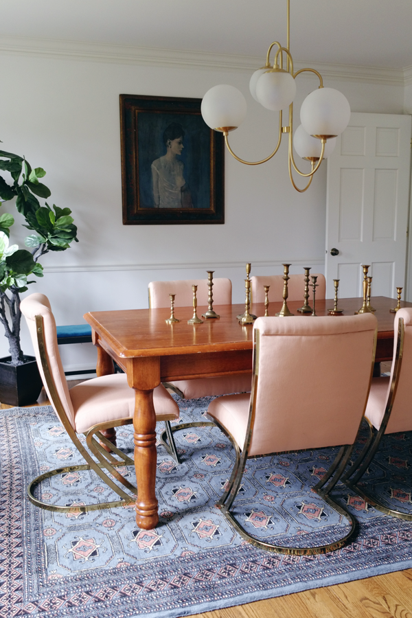White Buffalo Styling Co. Summer Blogger Home Tour. Hollywood Regency Meets  Farmhouse Dining Room