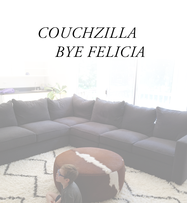 Peace out Couchzilla. Adding more seating to a room with poufs