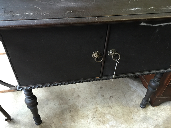 Antique cabinet from local estate sale will be converted into a vanity