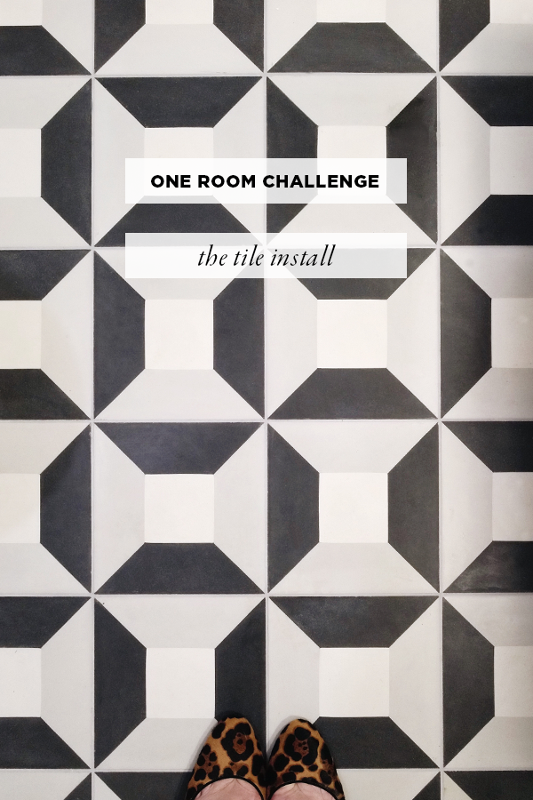 Clé Tile Cubicon One Room Challenge for House Of Hipsters. Contractor Gerry Reinhardt Renovations, Chicago General Contractor. Bathroom Makeover.