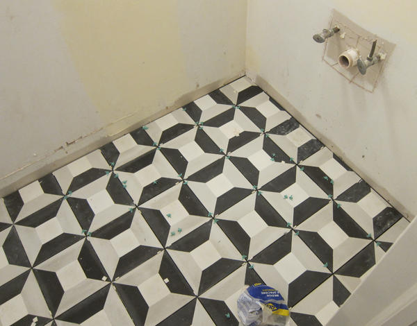 Clé Tile Cubicon One Room Challenge for House Of Hipsters. COntractor Gerry Reinhardt, Chicago General Contractor. Bathroom Makeover.