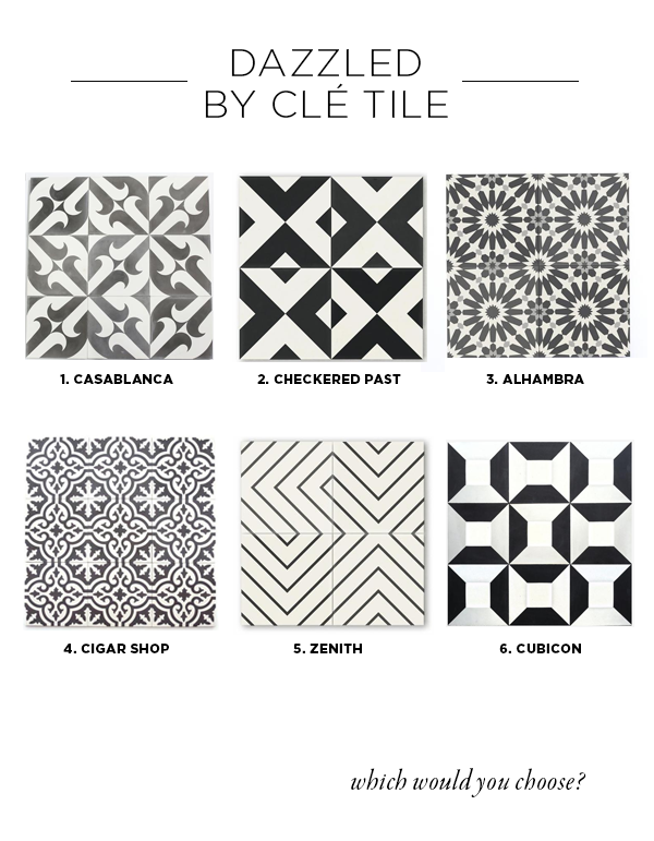 Clé Tile and House Of Hipsters have partnered up to renovate a powder room. I want this to be a truly unique powder room that is stunning. The look of a jewelry box.