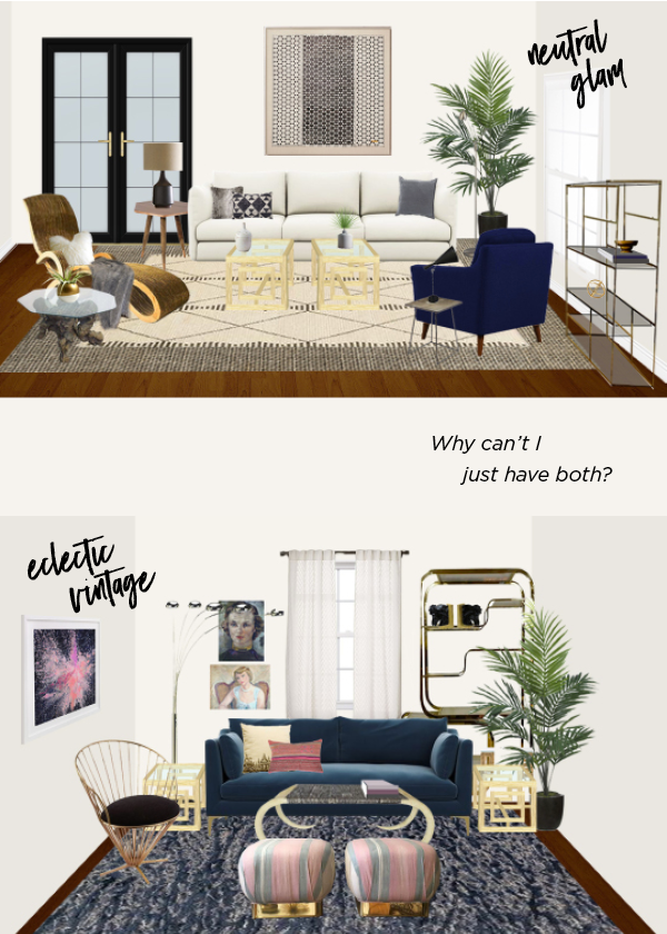 Why I chose the Interior Define Caitlin Sofa for my Decorist DesignOff living room makeover.