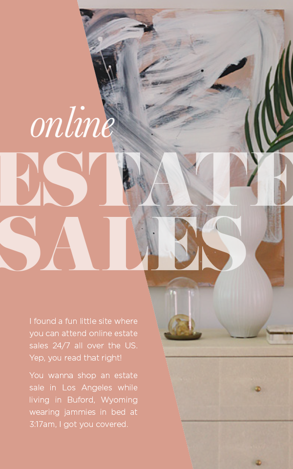 Shop online estate sales with Everything But The house and House Of Hipsters - Home Decor