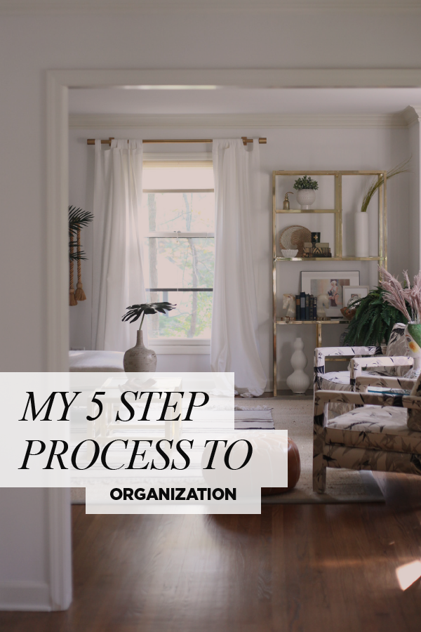 5 Step Process to Organization. My secret tips on how to declutter your home.