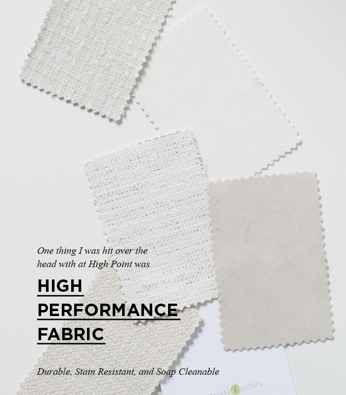 High performance fabric swatches. I love the idea of owning a stain resistant sofa.