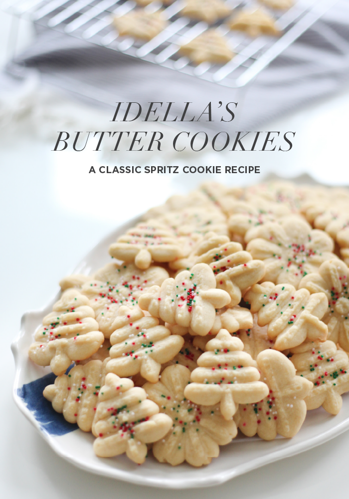 Idella's Butter Cookie Recipe for the Holidays Classic Spritz Cookie