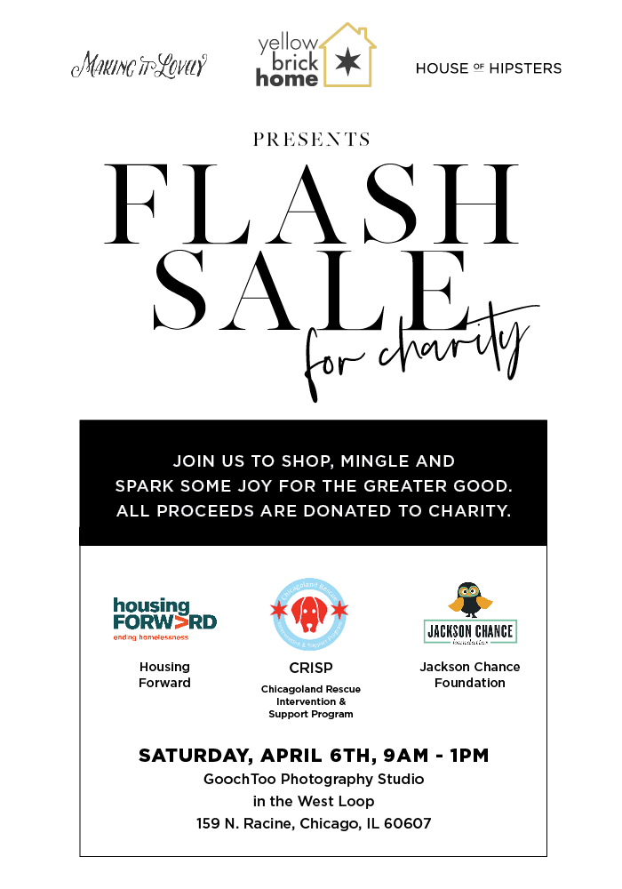 Flash Sale for charity.