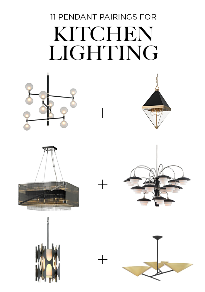 11 Pendant Pairings for kitchen lighting over island and table