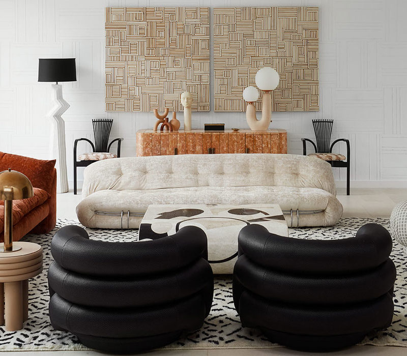 Modern meets 80s home decor. Living Room. Live fearlessly with your home decor.