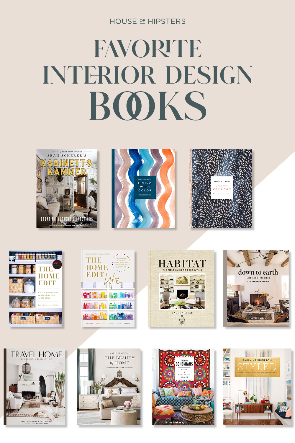 Favorite Interior Design Books Round Up