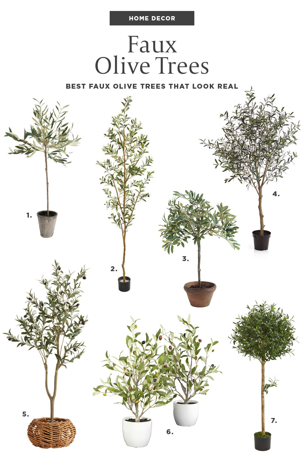 Best Faux Olive Trees Home Decor