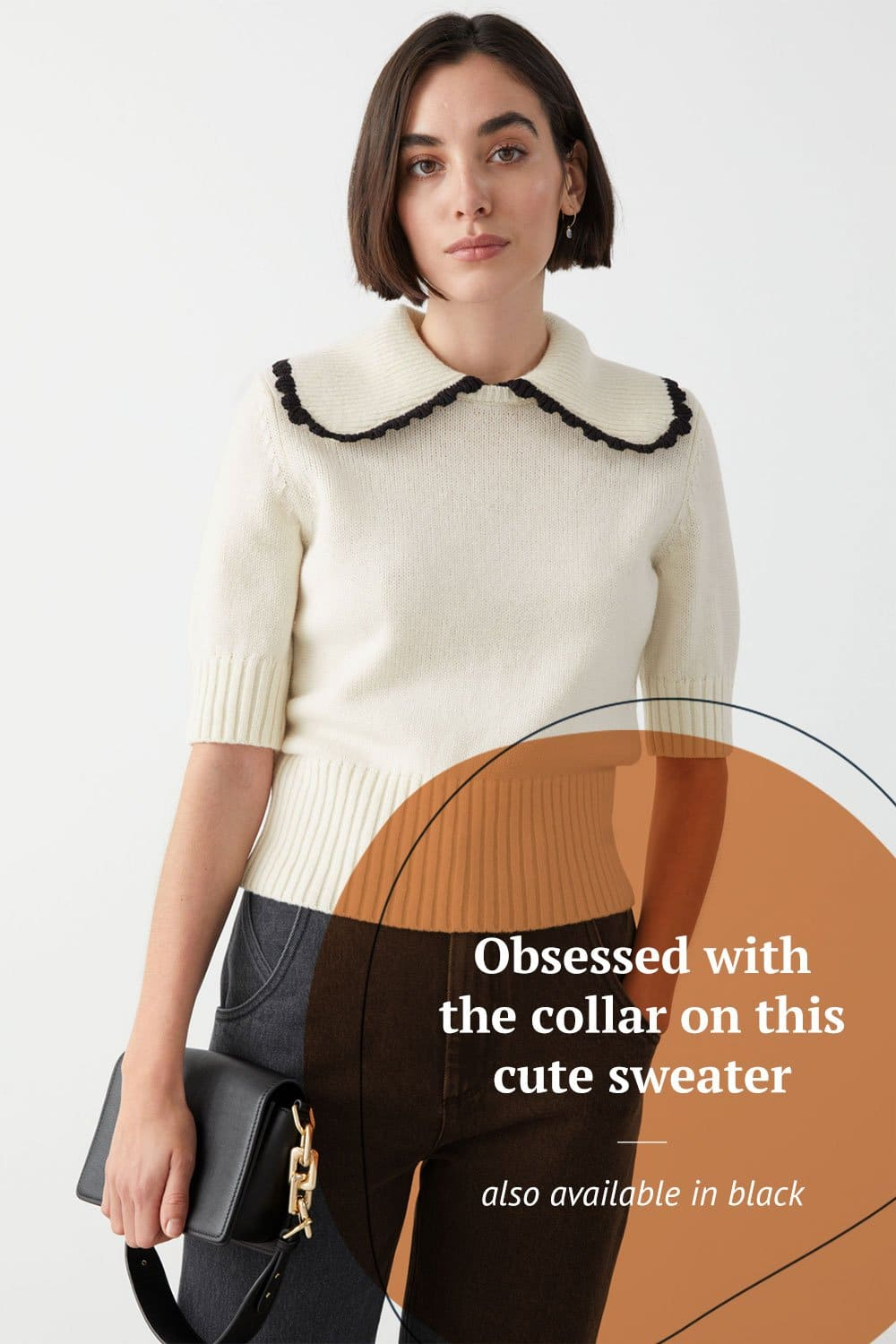 Wide Collar Wool Sweater